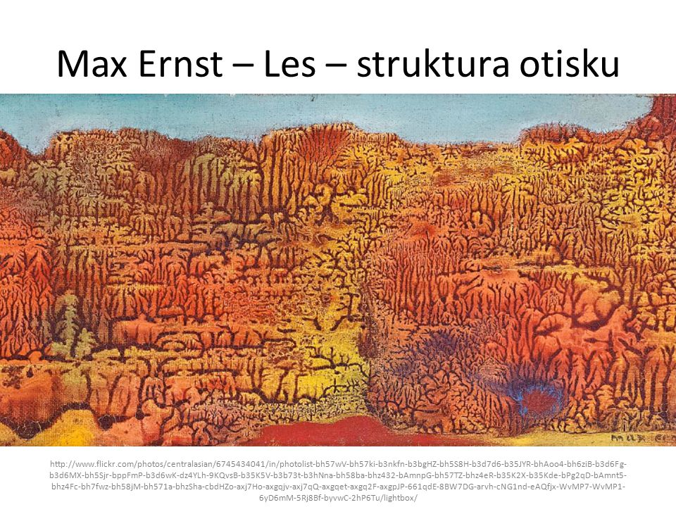 Max Ernst – Les – struktura otisku