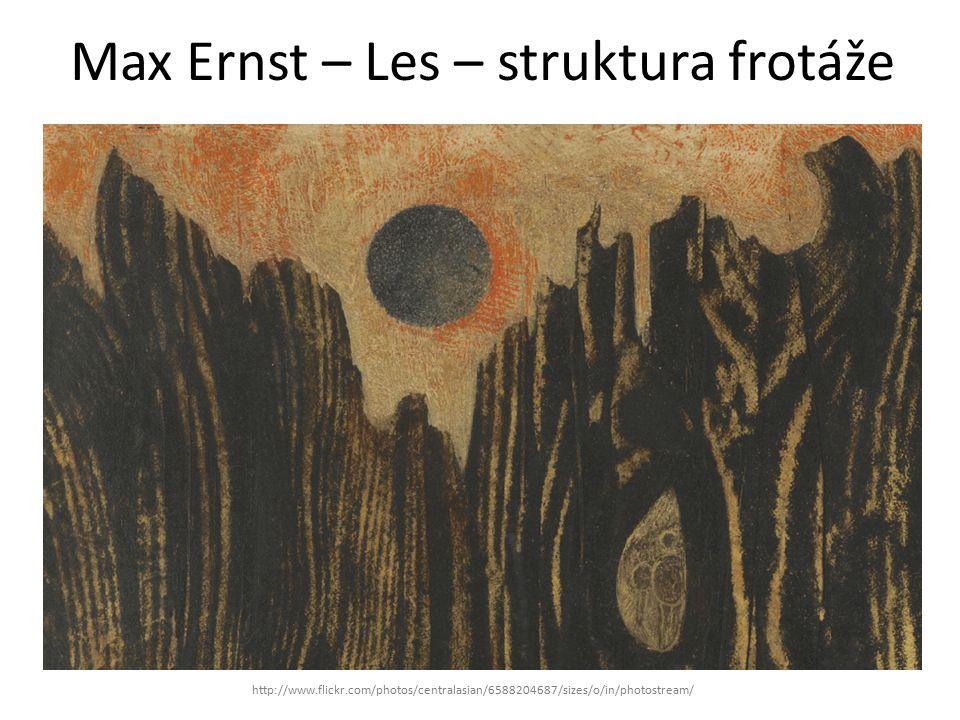 Max Ernst – Les – struktura frotáže