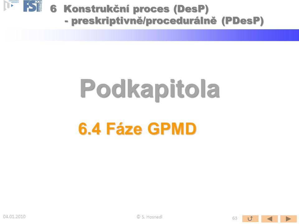6 Konstrukční proces (DesP) - preskriptivně/procedurálně (PDesP)