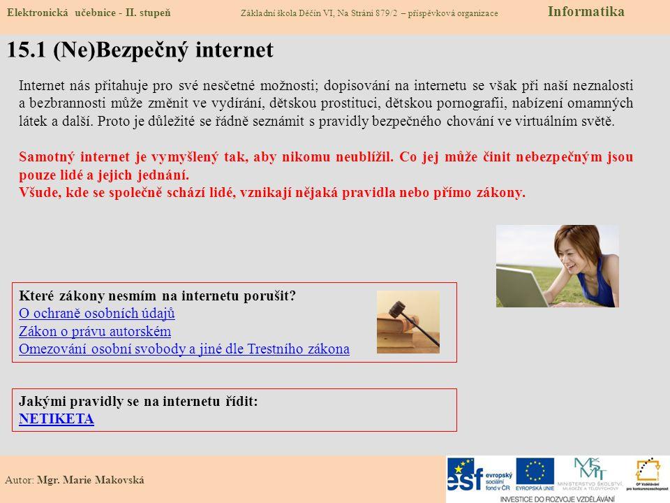 15.1 (Ne)Bezpečný internet
