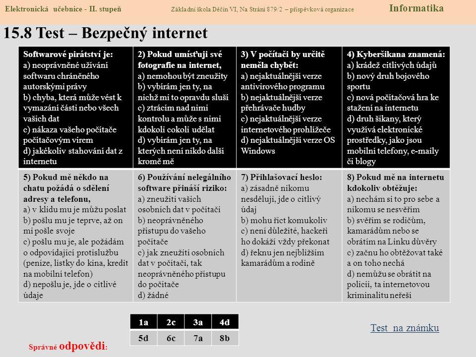 15.8 Test – Bezpečný internet