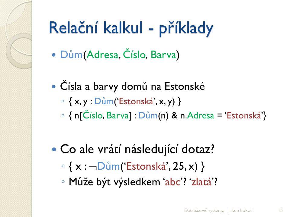 Relační kalkul - příklady