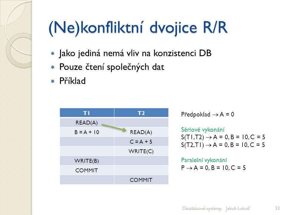 (Ne)konfliktní dvojice R/R
