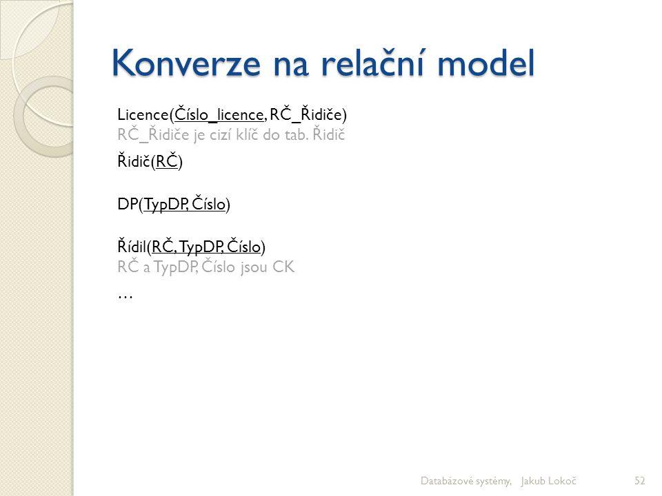 Konverze na relační model