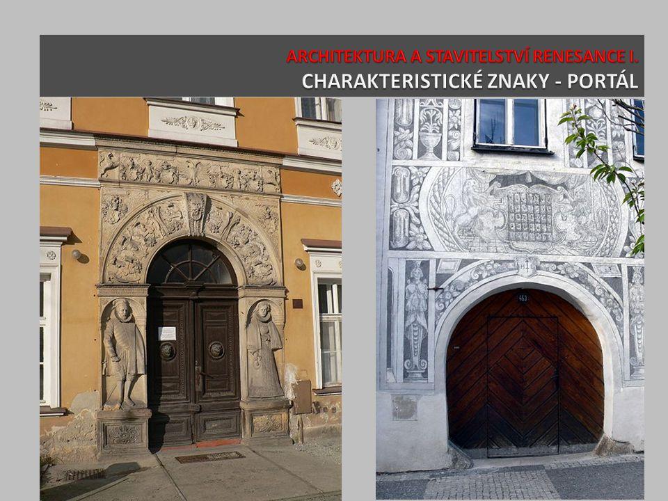 ARCHITEKTURA A STAVITELSTVÍ RENESANCE I