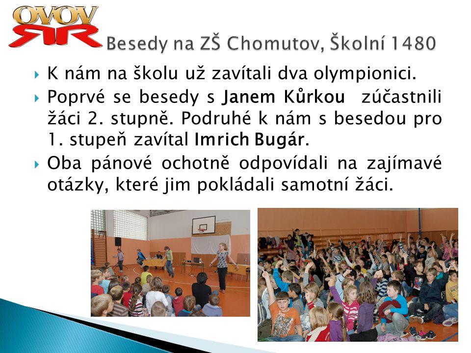 Besedy na ZŠ Chomutov, Školní 1480
