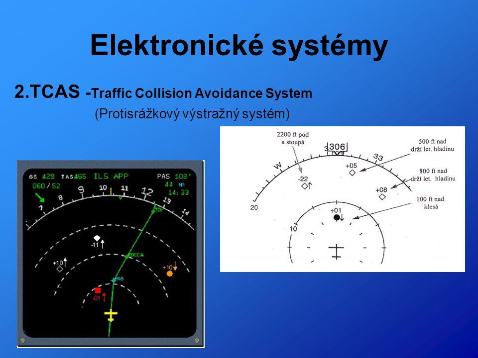 Elektronické systémy 2.TCAS -Traffic Collision Avoidance System