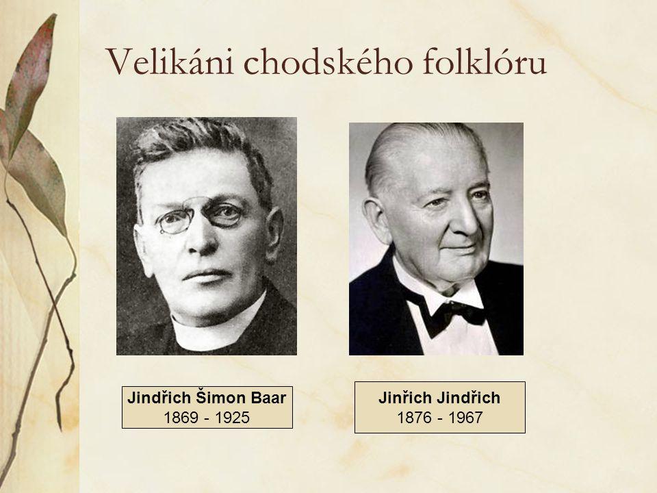 Velikáni chodského folklóru