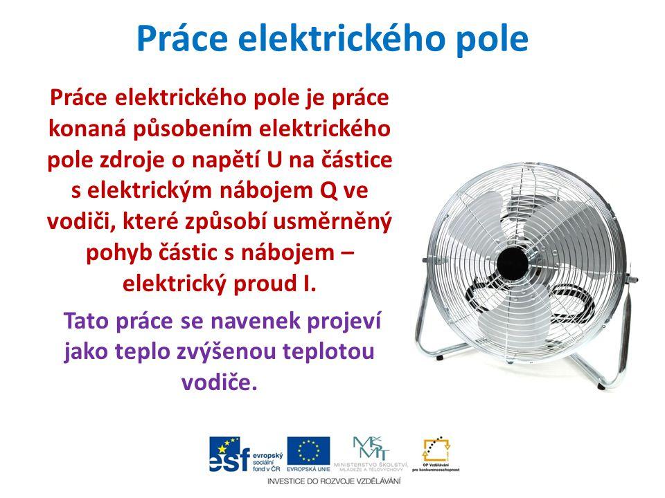 Práce elektrického pole