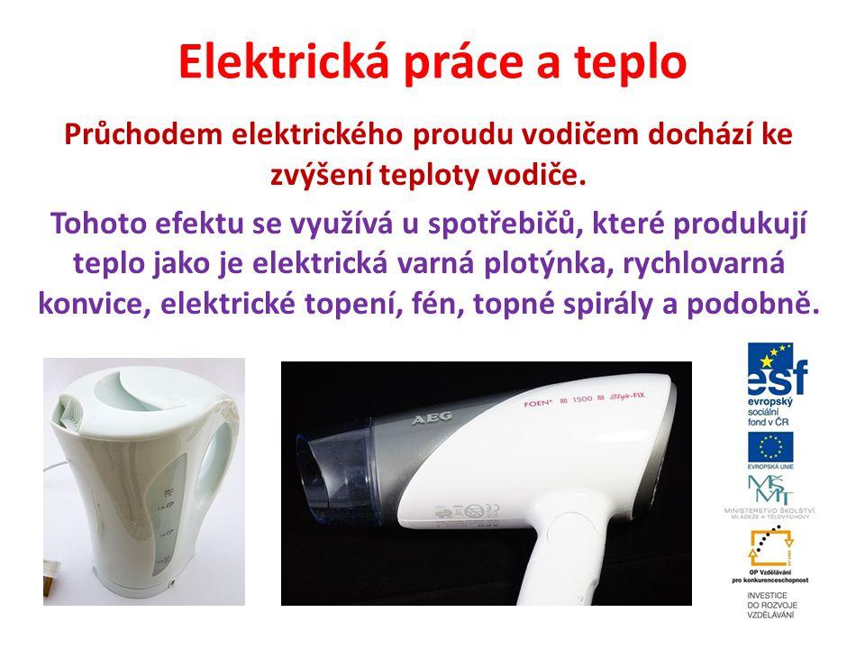 Elektrická práce a teplo