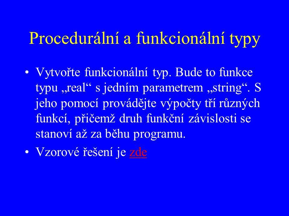 Procedurální a funkcionální typy