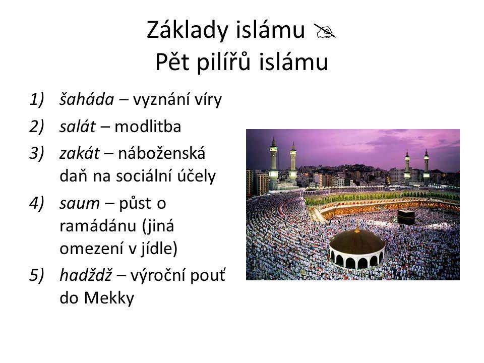Základy islámu  Pět pilířů islámu
