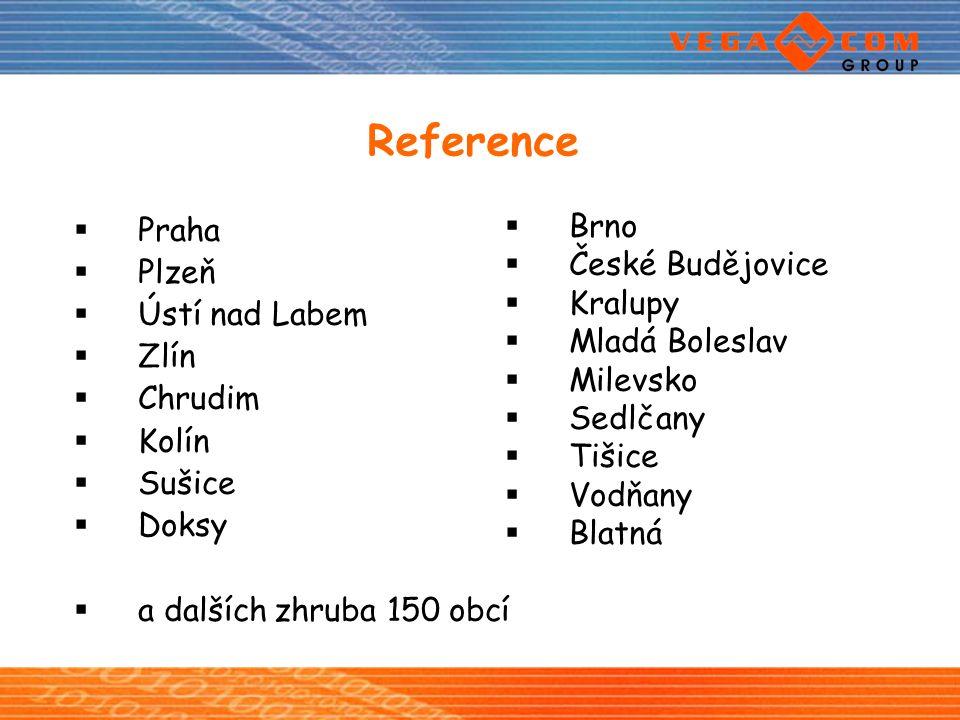 Reference Praha Plzeň Ústí nad Labem Zlín Chrudim Kolín Sušice Doksy