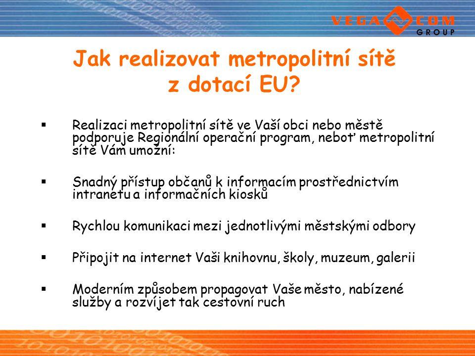 Jak realizovat metropolitní sítě z dotací EU
