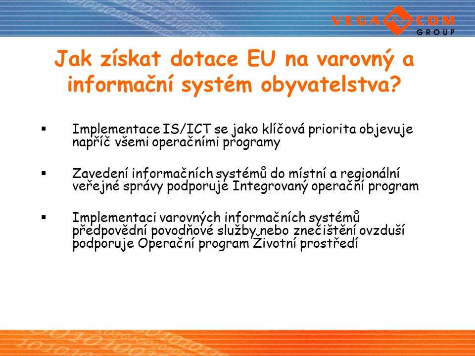 Jak získat dotace EU na varovný a informační systém obyvatelstva