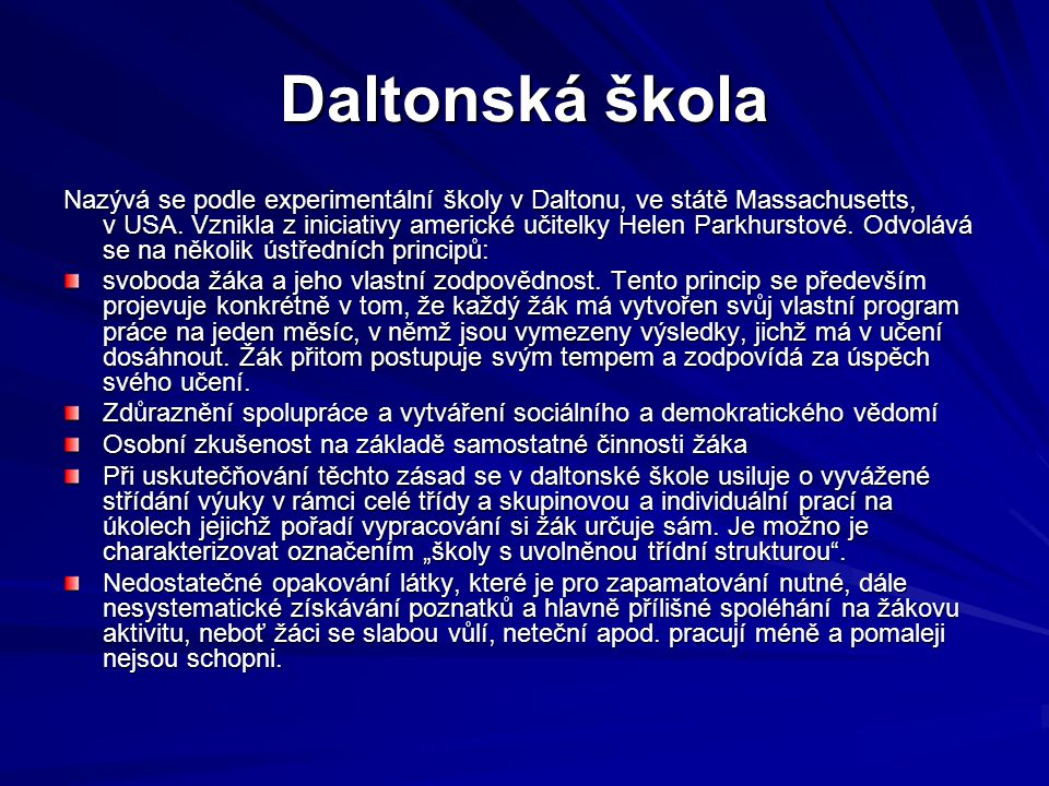 Daltonská škola