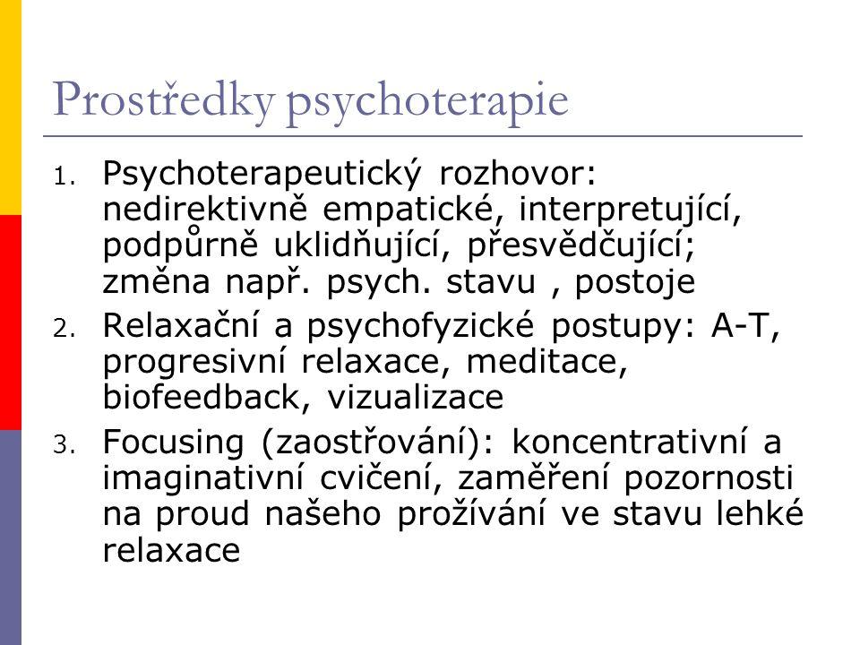 Prostředky psychoterapie