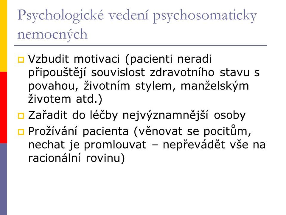 Psychologické vedení psychosomaticky nemocných