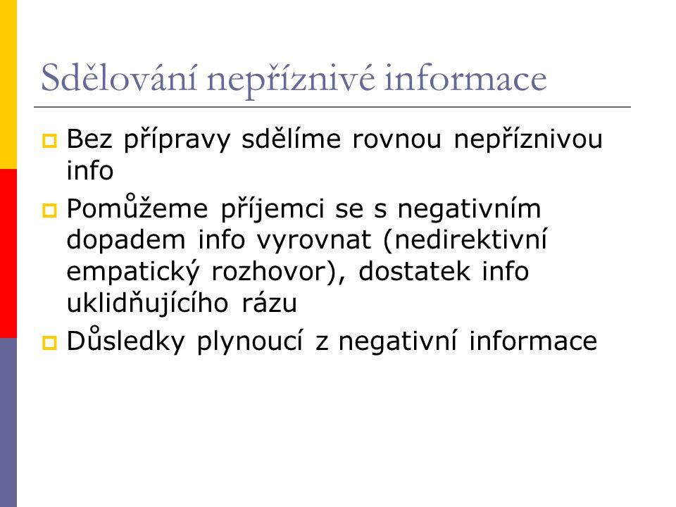 Sdělování nepříznivé informace