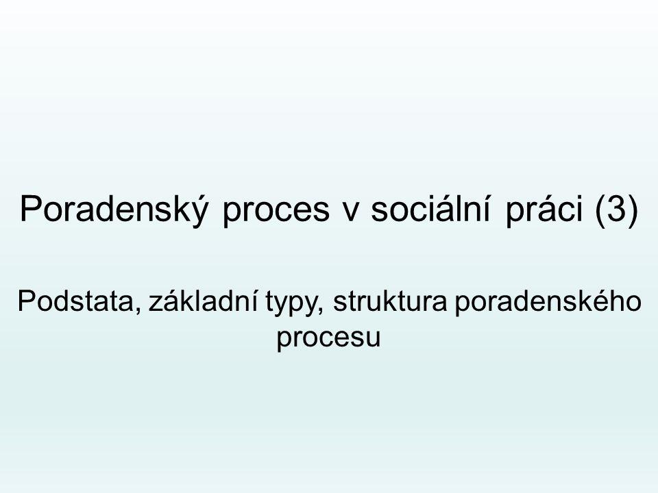 Poradenský proces v sociální práci (3)