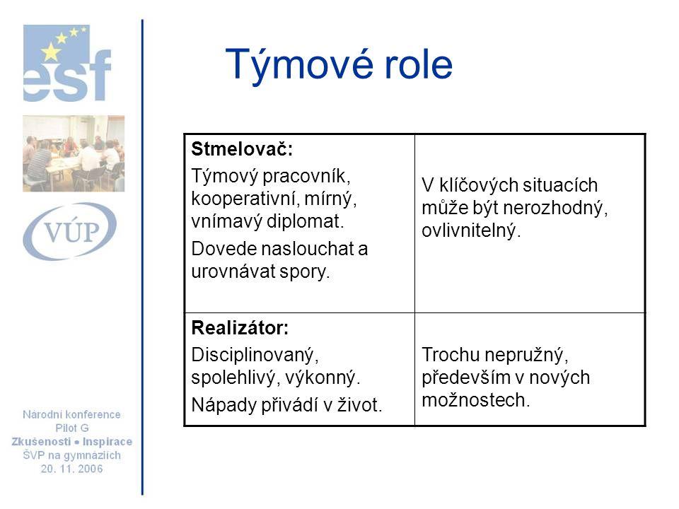 Týmové role Stmelovač: