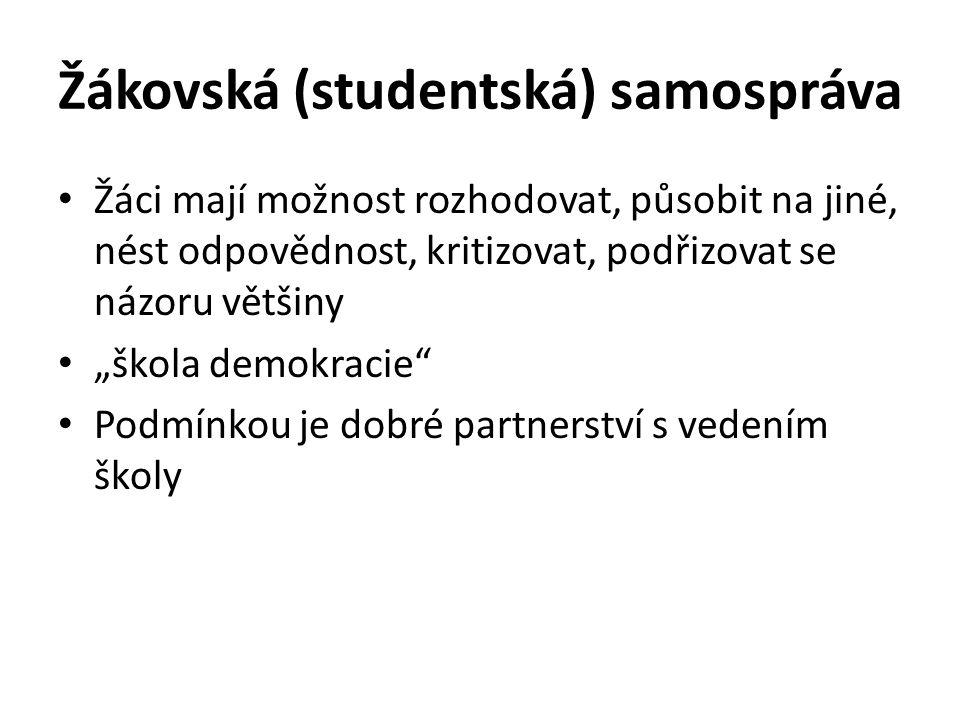 Žákovská (studentská) samospráva
