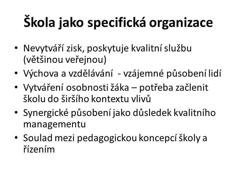 Škola jako specifická organizace