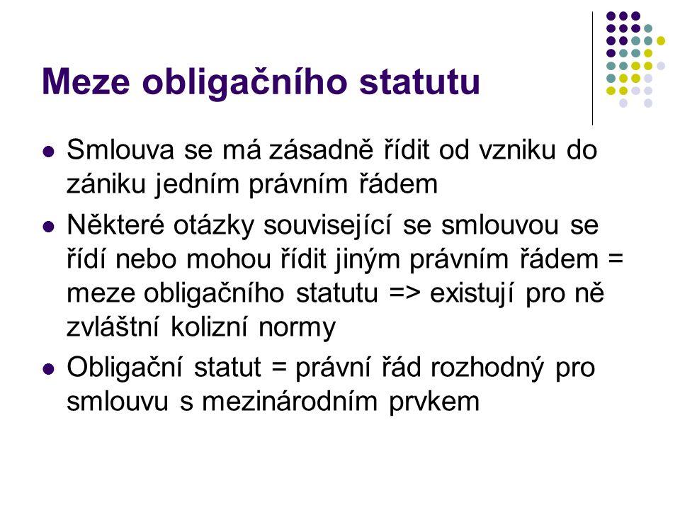 Meze obligačního statutu