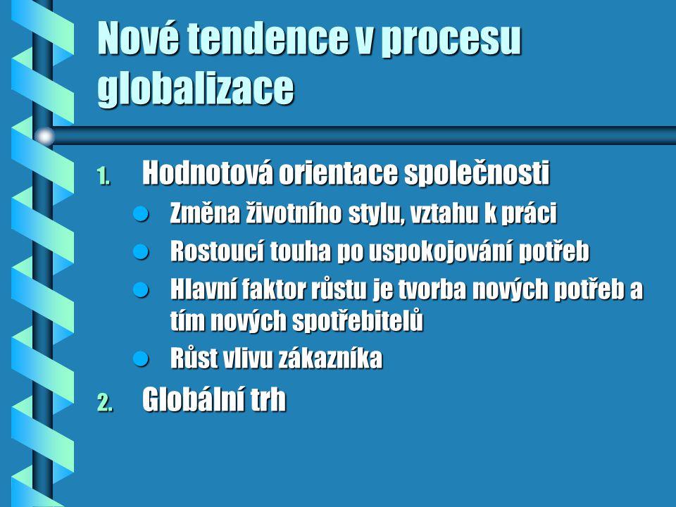 Nové tendence v procesu globalizace