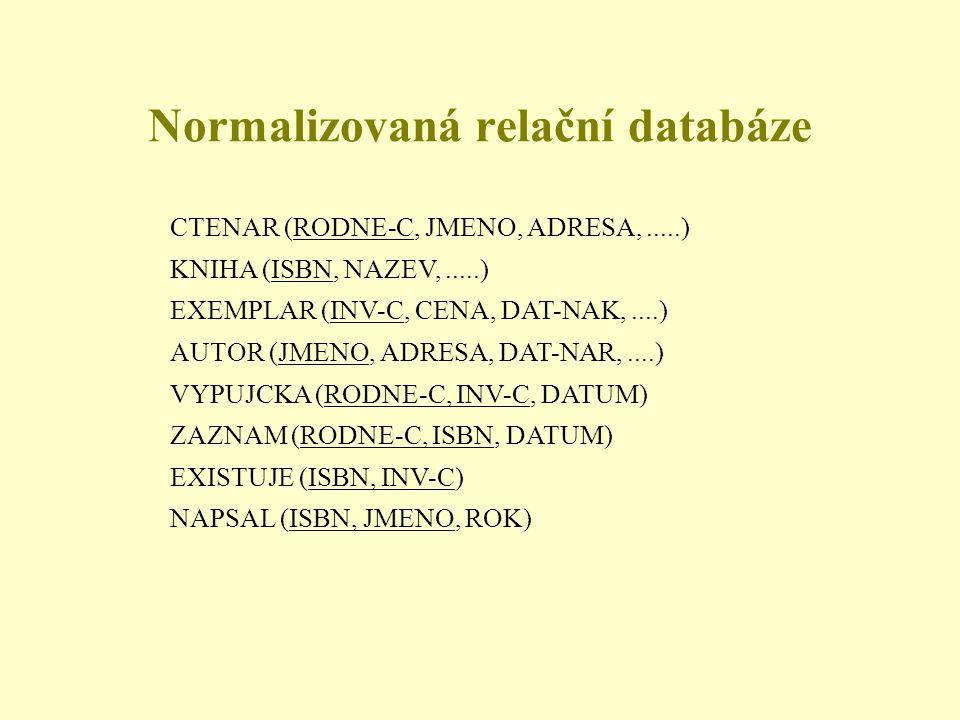 Normalizovaná relační databáze