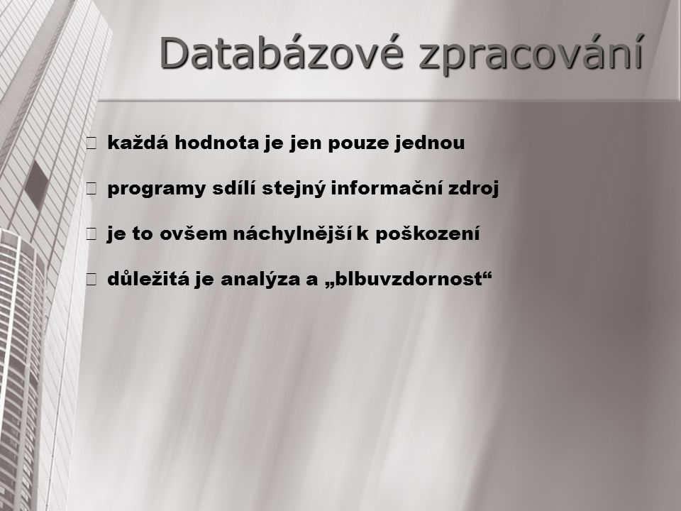 Databázové zpracování