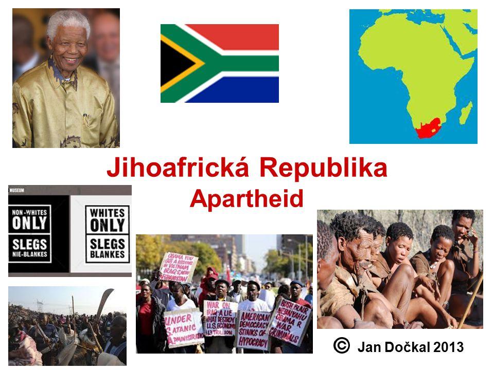 Jihoafrická Republika Apartheid