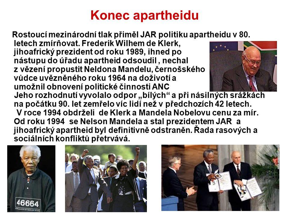 Konec apartheidu