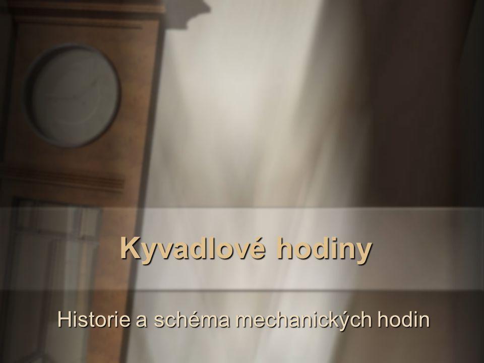 Historie a schéma mechanických hodin