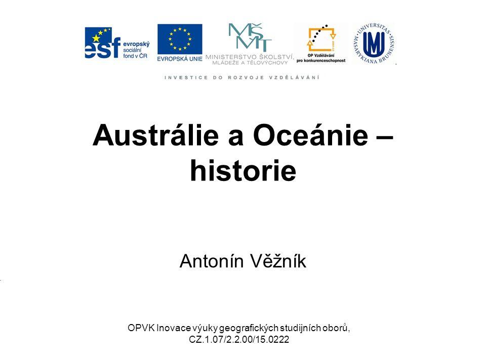 Austrálie a Oceánie – historie