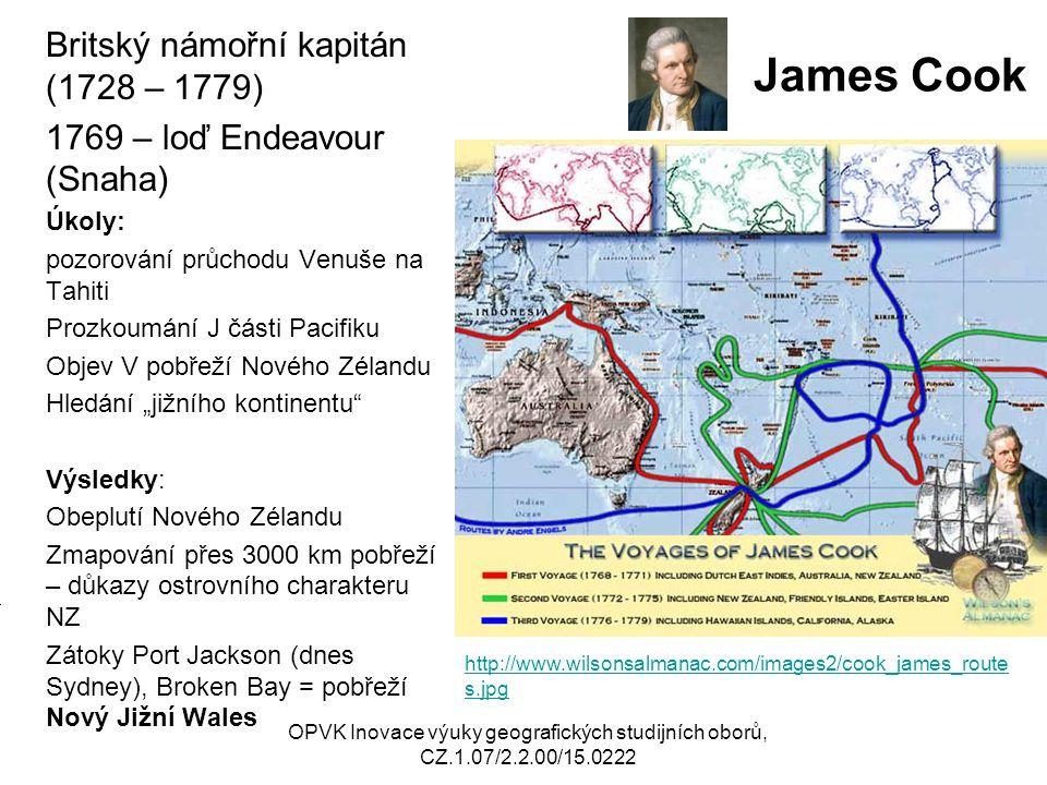 James Cook Britský námořní kapitán (1728 – 1779)