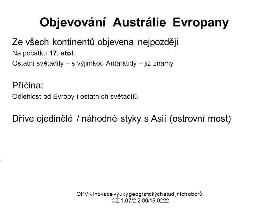 Objevování Austrálie Evropany