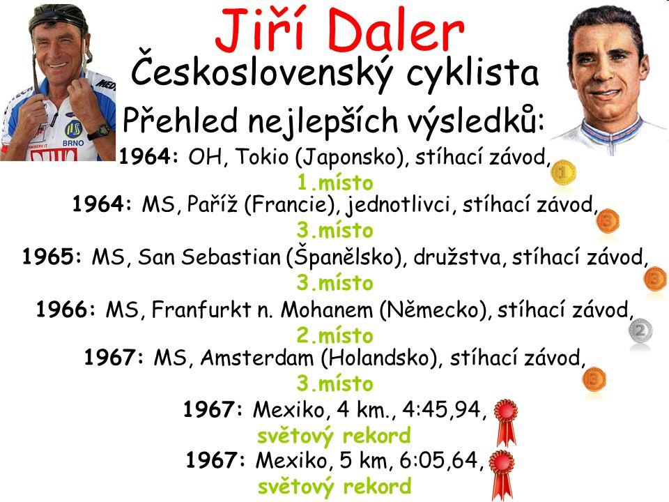Jiří Daler Československý cyklista Přehled nejlepších výsledků: