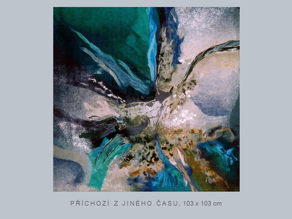 PŘÍCHOZÍ Z JINÉHO ČASU, 103 x 103 cm