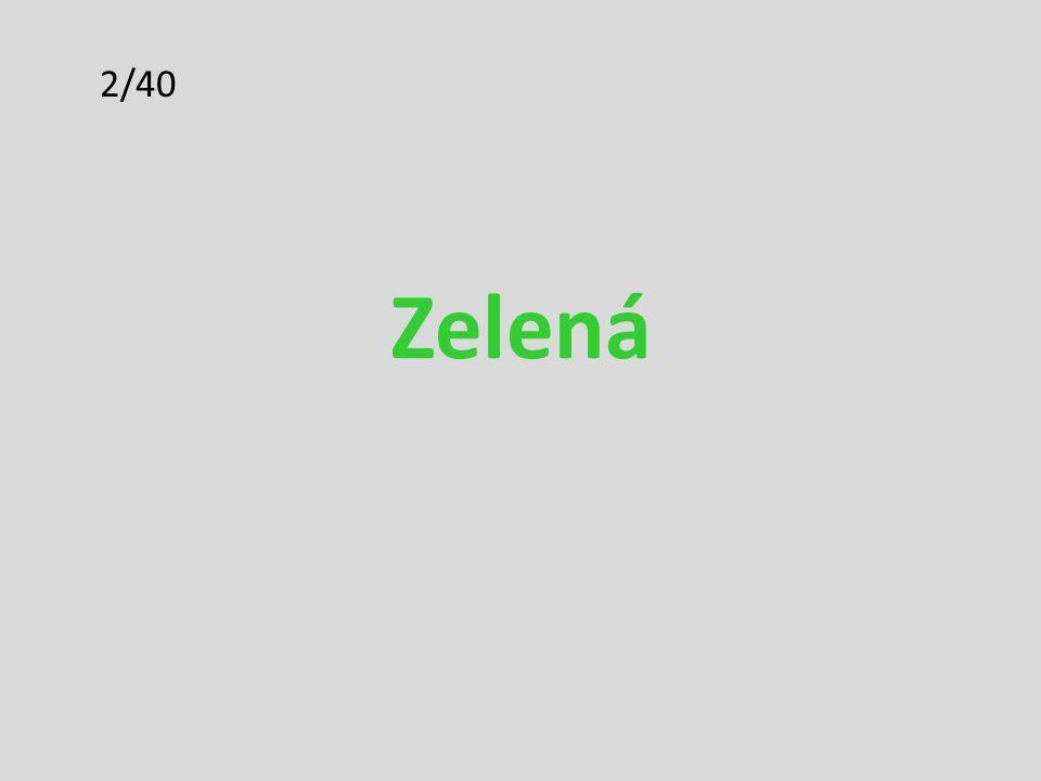 2/40 Zelená