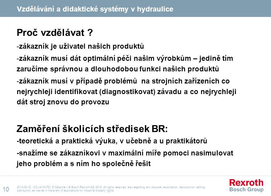 Vzdělávání a didaktické systémy v hydraulice