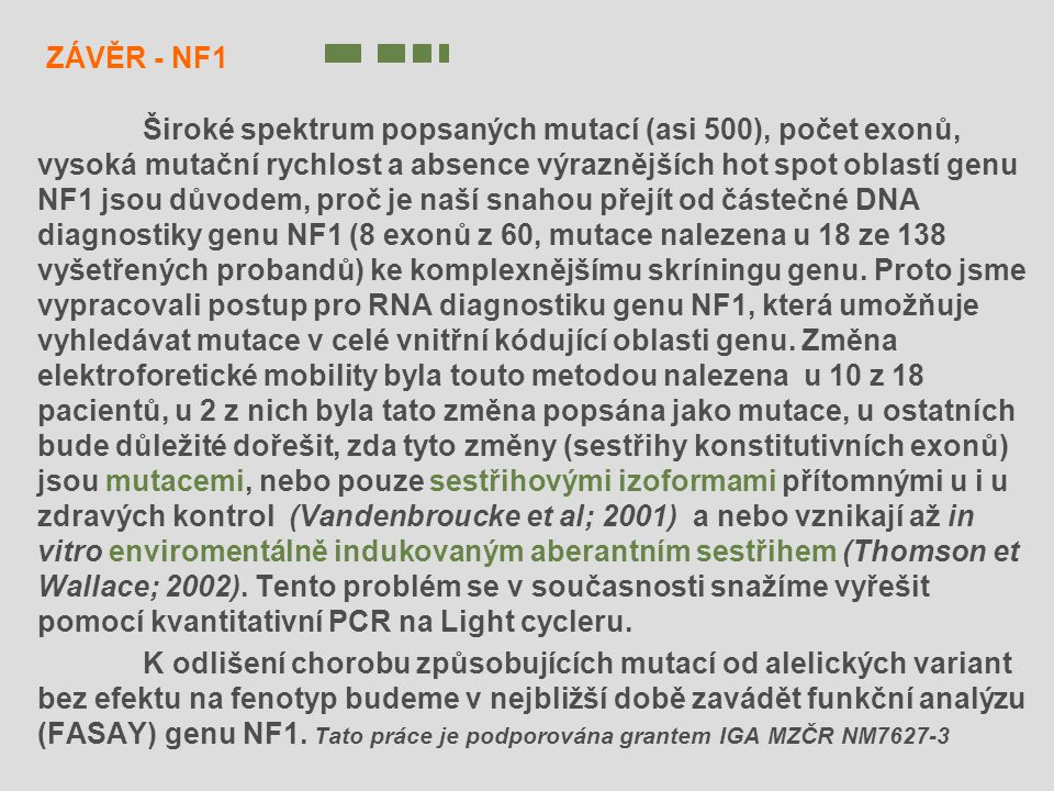 ZÁVĚR - NF1