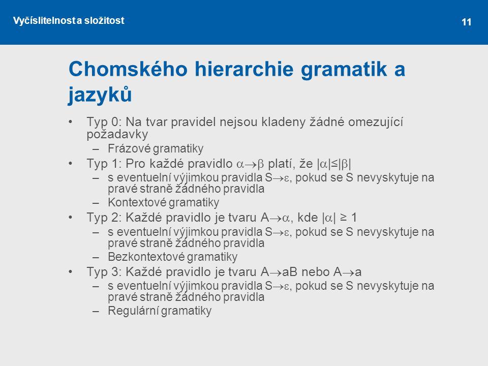 Chomského hierarchie gramatik a jazyků