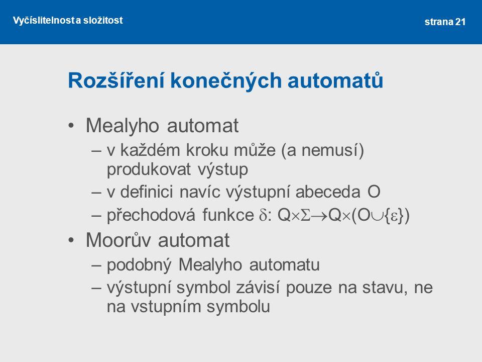 Rozšíření konečných automatů
