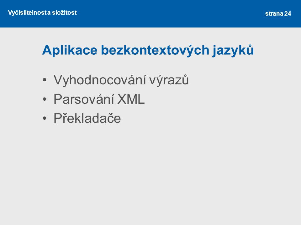 Aplikace bezkontextových jazyků