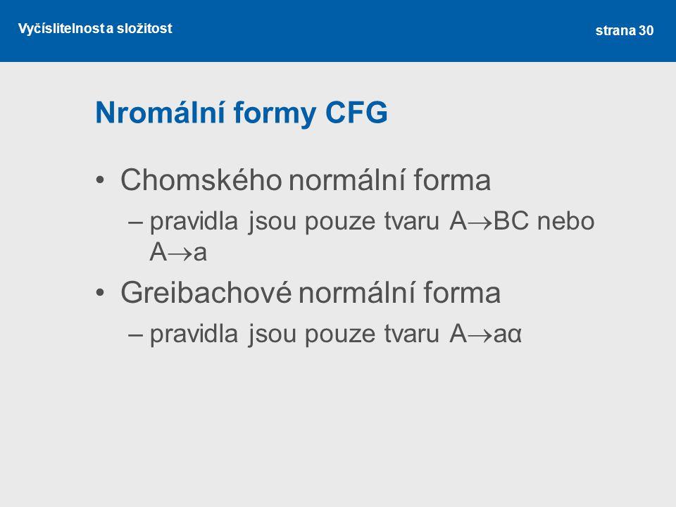 Chomského normální forma