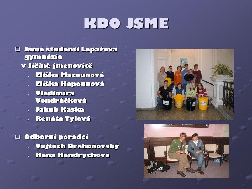 KDO JSME Jsme studenti Lepařova gymnázia v Jičíně jmenovitě