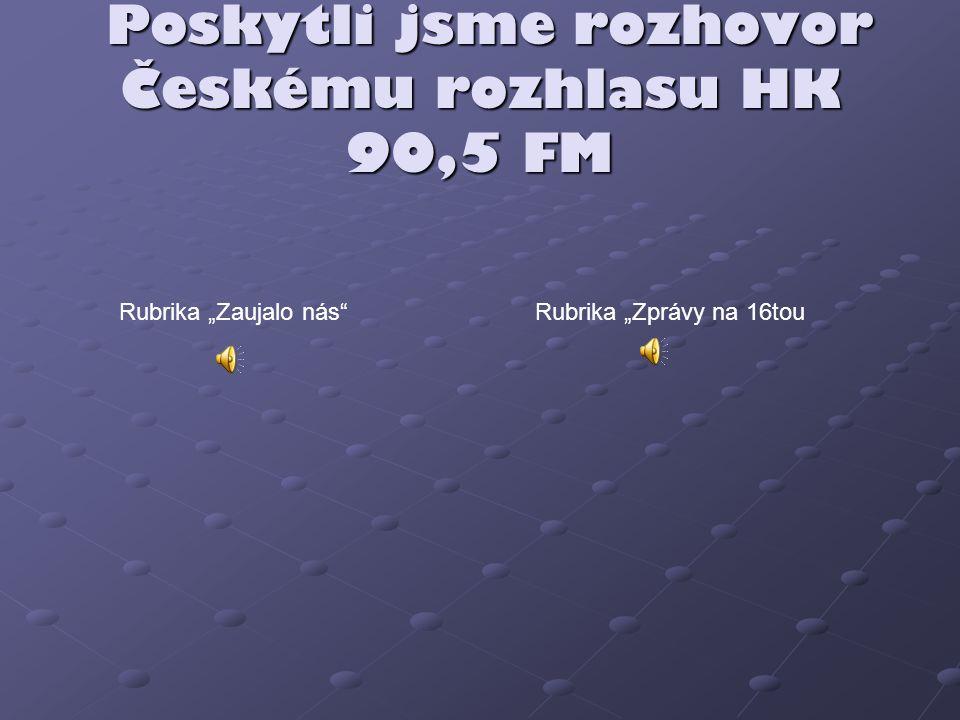 Poskytli jsme rozhovor Českému rozhlasu HK 90,5 FM