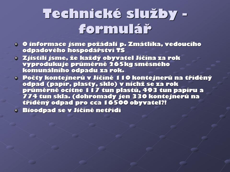 Technické služby - formulář