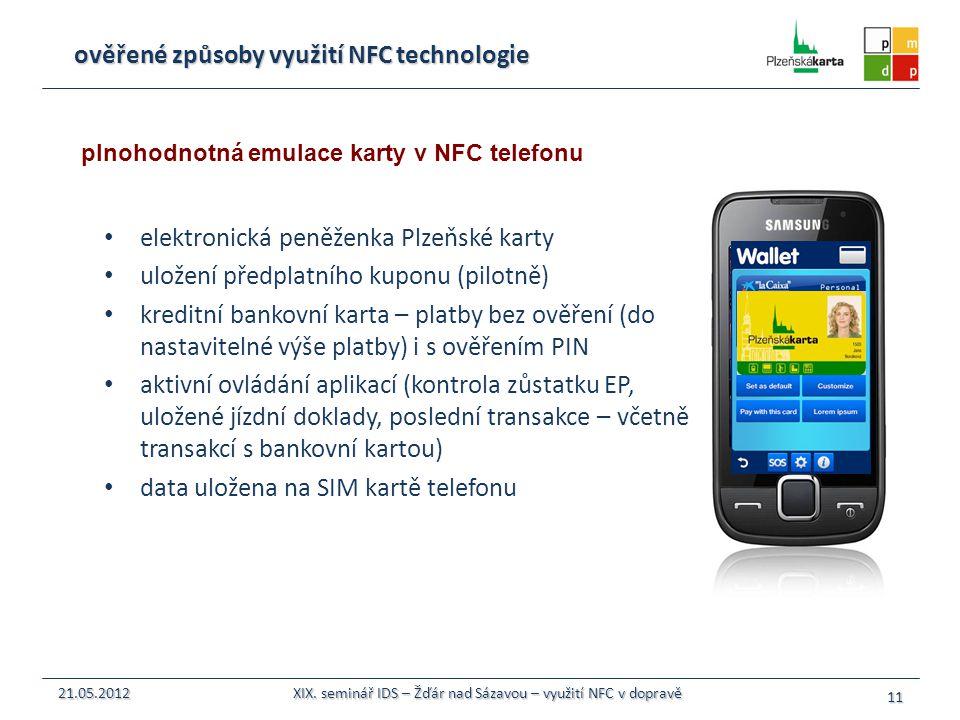ověřené způsoby využití NFC technologie